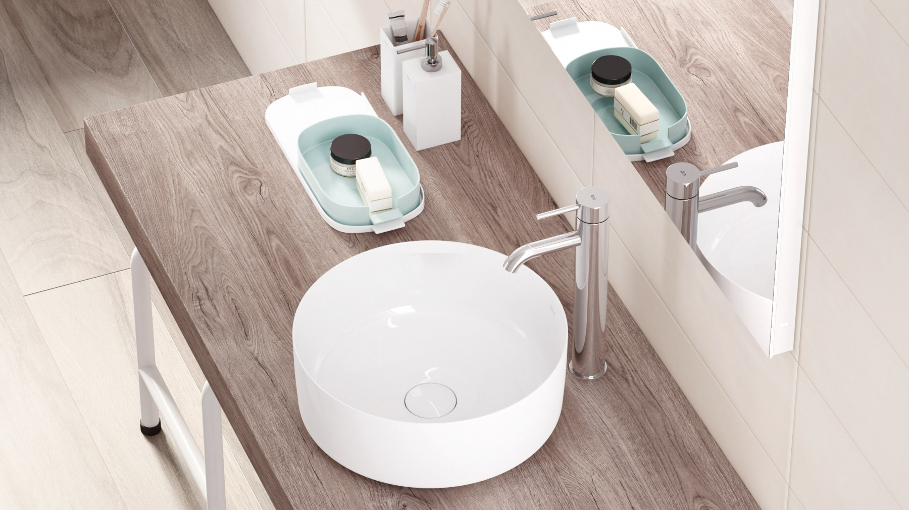 Inspira basin by Roca manufactured in Fineceramic®